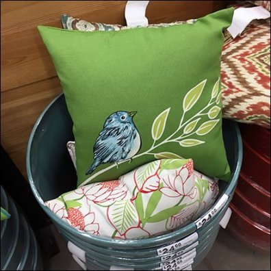 Patio Furniture Pillow Planter Display Square 2