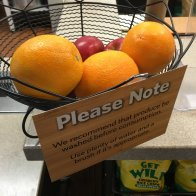 Please Note Wash Fresh Fruit Notice Feature