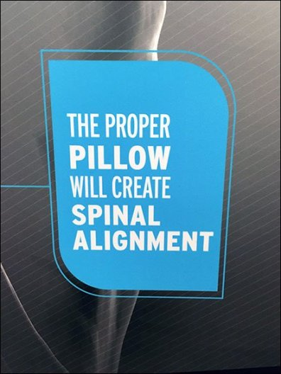 BedGear Pillow Power Merchandising By Endcap