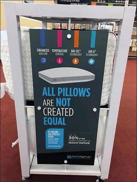 BedGear Pillow Power Merchandising By Endcap