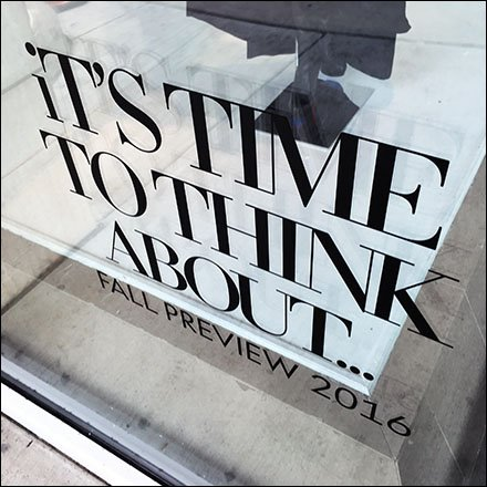 Time To Think About Fall 2016 Window ClingMain