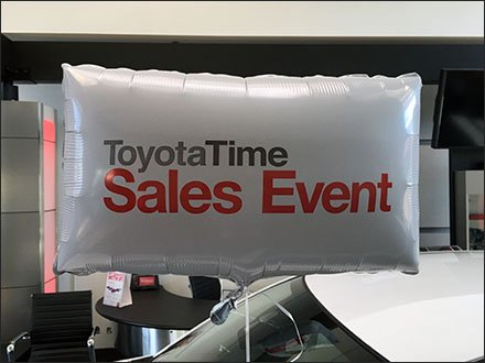 Toyota Brands Sales Angular Inflatables