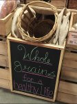 Whole Grains for a Healthy Life Chalkboard Aux