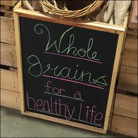 Whole Grain Healthy Life Hand-Written