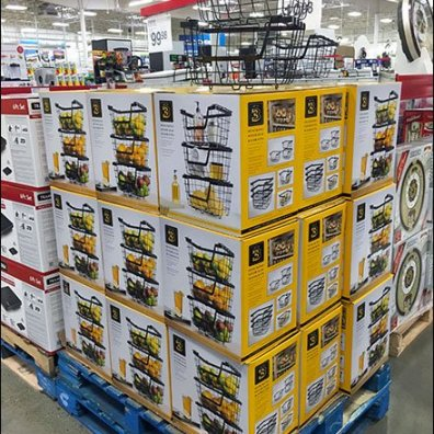 Wire Basket Pallet Merchandising 1