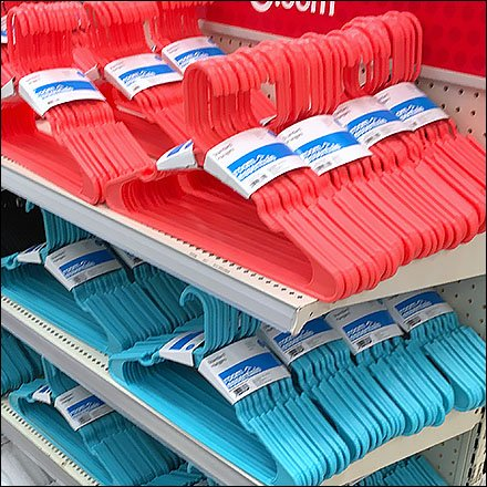 Perfectly Faced Clothes Hangers Colorful Endcap