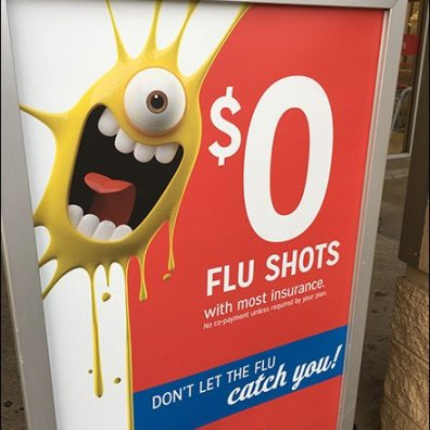 Fall Flu Shots Free at Kmart