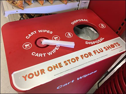 Half-Height Cart-Wipe Includes Flu-Shot Cross Sell