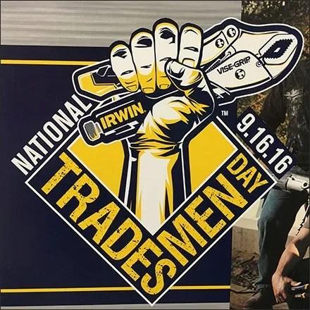 Irwin Branded National Tradesmen Day Celebration