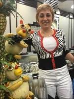 V.I.P. Fruit Monkeys Run Amoke At Littman Jewelers