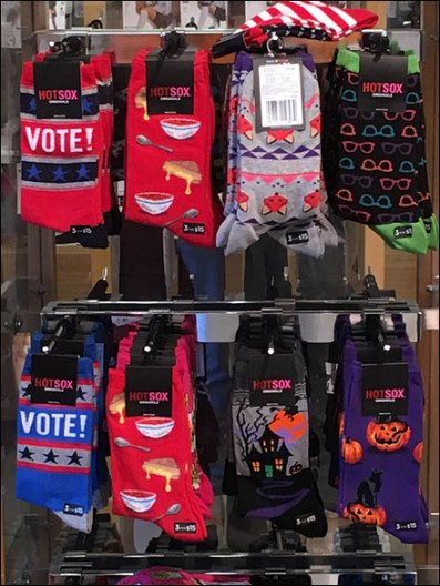 Democratic Blue Sock Merchandising – Vote With Your Feet