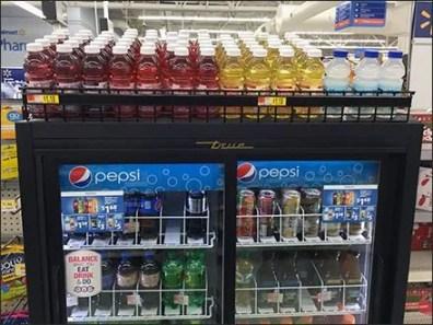 Gravity Feed Cooler-Top Beverage Rack