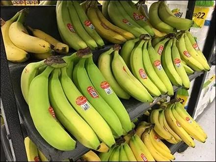 Curved Banana Rack Cradles Fruit Front and Back