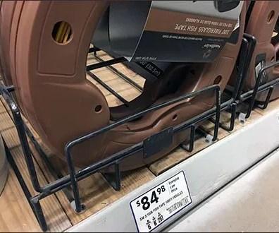 Electrical Fish Tape Shelf-Edge Wire Rack