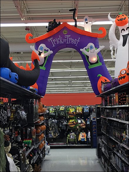 Halloween Trick-Or-Treat Inflatable As Adult-Scale Aisle Flyover