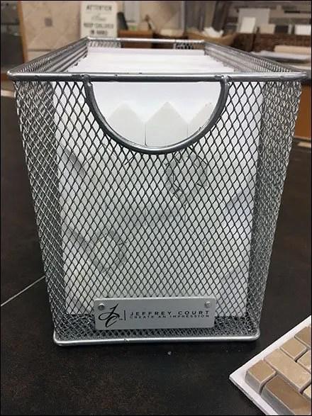 Jeffrey Court Wire Mesh Basket Tile Sampler