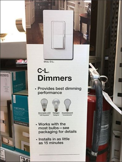 Gravity Feed Via Corrugated For Dimmer Switches
