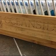 Logo Branded Fixtures - Oceanside® Hot-Branded Wood Tray For Tile