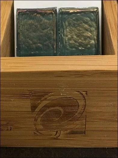 Oceanside Fire-Branded Wood Tray For Tile