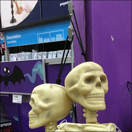 Halloween Skeletons Sold By Strip Merchandiser