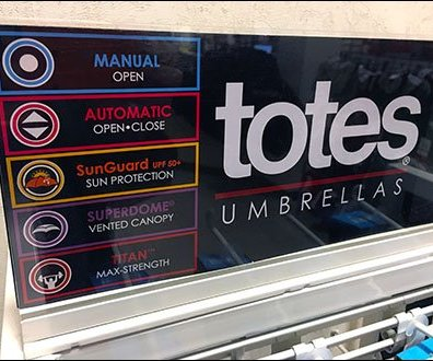 Totes® Umbrella Stand Color-Coded Menu