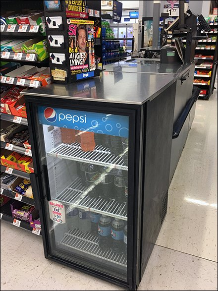 Pepsi Cooler Cashwrap Extension