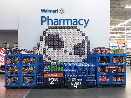 Giant Pepsi Emoji Carton Stack