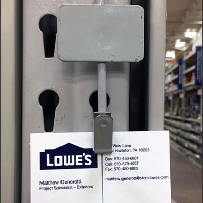 Business Card Pitch Via Strip Merchandiser