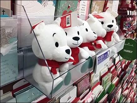 Acrylic Shelf Sidecar For Plush Christmas Bears