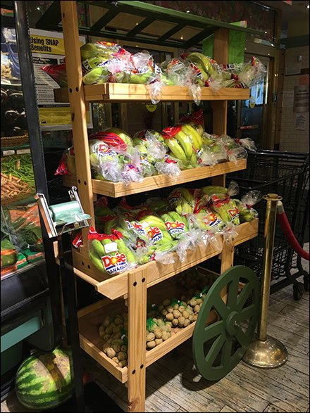 Mock Wood Pushcart As Green Grocer Prop