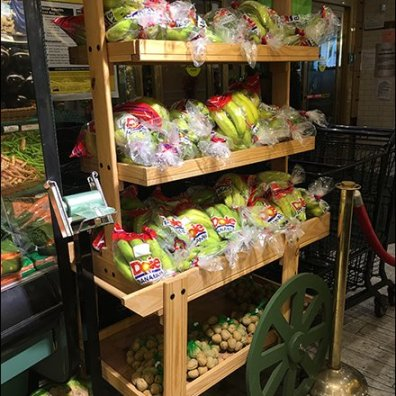 Mock Wood Pushcart As Green Grocer Prop