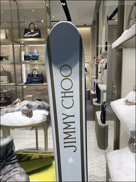 Jimmy Choo Retail Fixtures - Jimmy Choo Licensed Ski Equipment