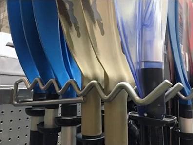 Undulating Double Arm Kayak Paddle Hooks