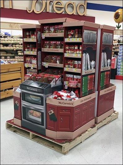 McCormick Spice Corrugated Oven Display