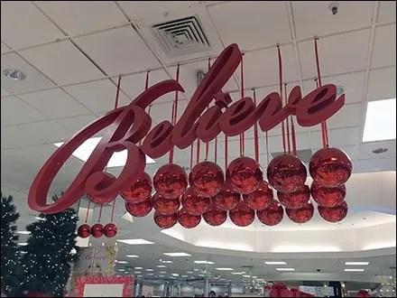 Macys® Believe An Ongoing Christmas Theme