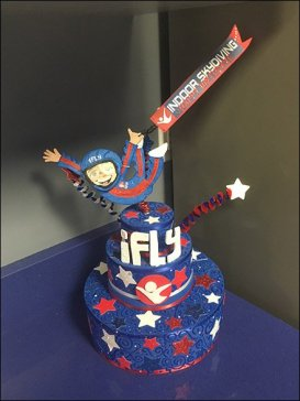 Decorated Cake Merchandising For Indoor Skydiving
