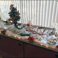 Visual Merchandising a Christmas Bakery Buffet