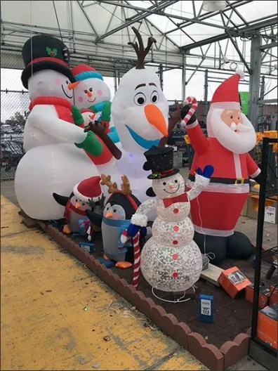 Christmas Inflatables: Traditional and Contemporary