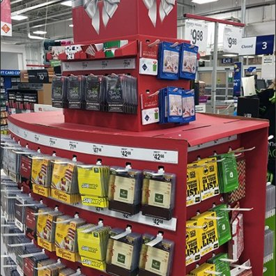 Corrugated Christmas Gift Card Pallet