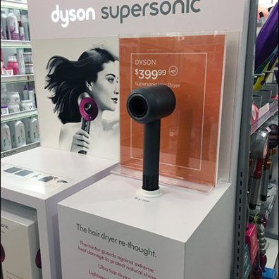 Dyson SuperSonic Hair Dryer Display POP 2