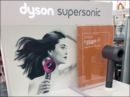 Dyson SuperSonic Permanent Hair Dryer Display