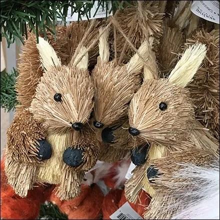 Faux Christmas Tree Ornament Display