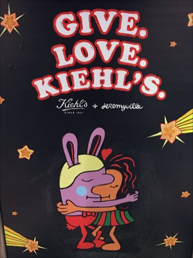 Give Love. Kiehls Easel 2