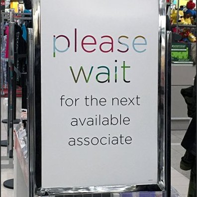 Kohls Cashwrap Navigation: Please Wait Sign