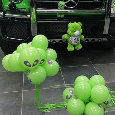 Mercedes Benz 2017 Alien Green Plush 2