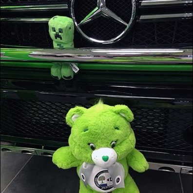 Mercedes Benz 2017 Alien Green Plush 3