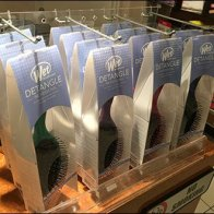Table-Top Brush Display of Plastic Pegboard