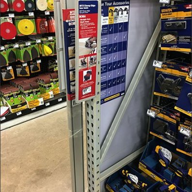 Saw Guide Pallet Rack Upright Mini Powerwing 1