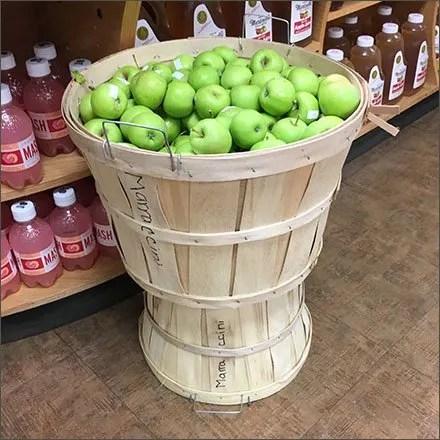 Bushel Basket Fixtures - Bushel-Leads-To-A-Peck Produce Pedestal