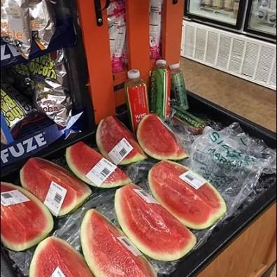 Sickles Iced Watermelon End-Aisle Bin